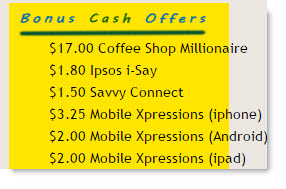 Cashback Research Bonus Cash Offers