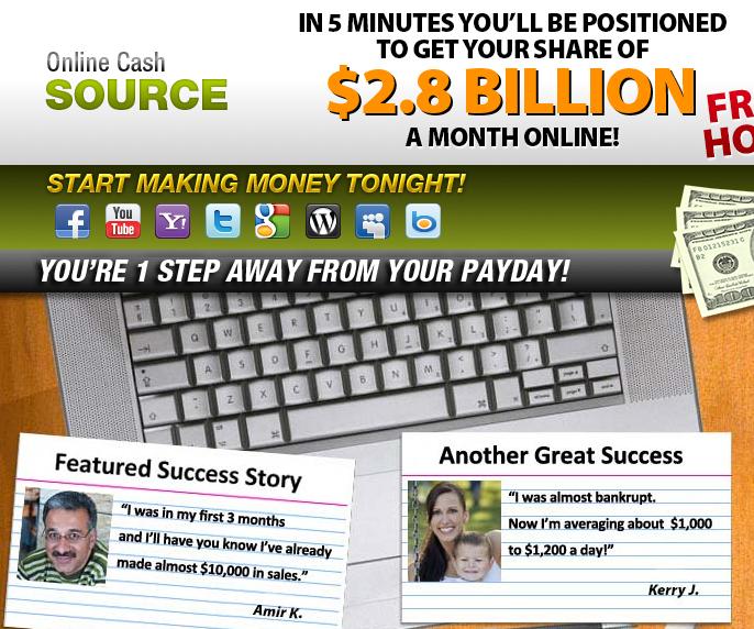 Online Cash Source Screen Grab
