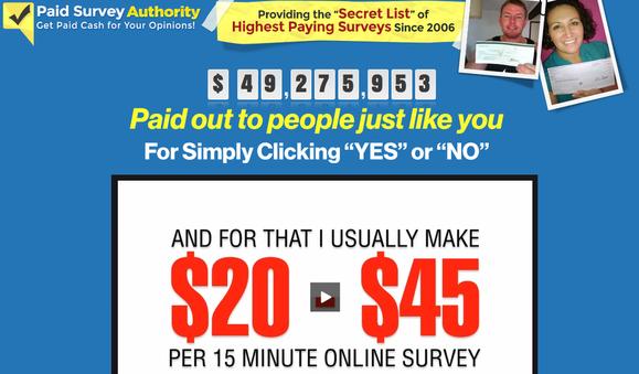 Paid Survey Authority