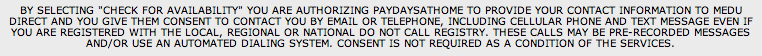 Paydays at Home Revealing Disclaimer