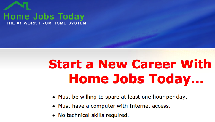Home Jobs Today Review
